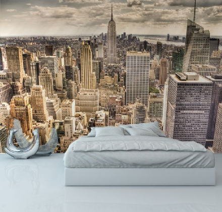 New York skyline wallpaper mural for wall